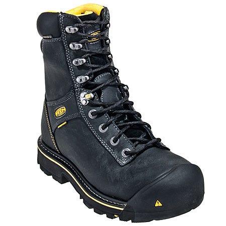 Keen Footwear Men's Black Wenatchee Waterproof EH Work Boots 1007975