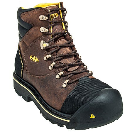 Keen Boots: Men's Steel Toe 1007976 Water-Resistant Brown Work Boots