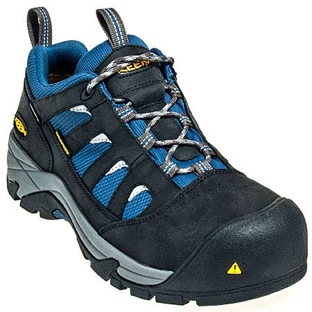 Keen Footwear: Men's Waterproof 1008301 Black Composite Toe Shoes
