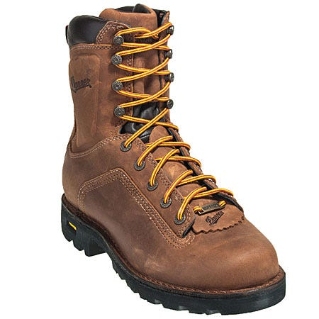 Danner Boots: Men's 14553 Brown Waterproof Quarry Work Boot Sale $230.00 Item#14553 :