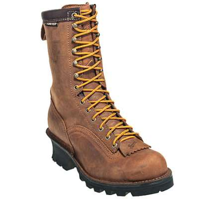 Danner Boots: Men's Brown 14574 Quarry Safety Toe Waterproof EH Logger Boots Sale $280.00 Item#14574 :
