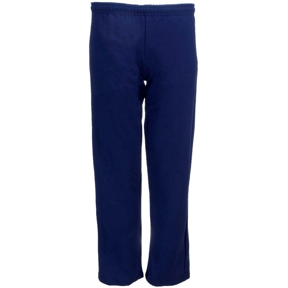 28273f674 Gildan Sweatpants: Men's Navy 18400 NVY Open Bottom Heavy Blend Sweatpants