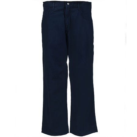 Carhartt Jeans: Men's Navy Flame-Resistant Loose Fit Canvas Jeans FRB159 DNY
