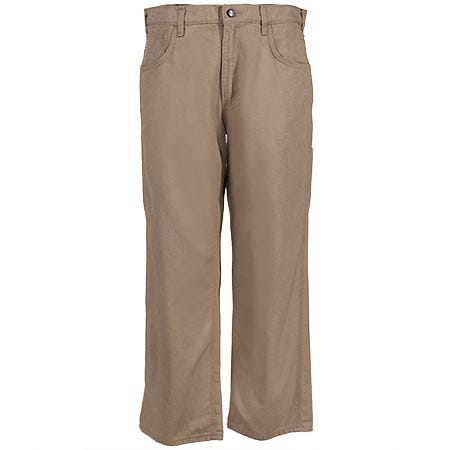 Carhartt Jeans: Men's Khaki Flame-Resistant Canvas Jeans FRB159 GKH