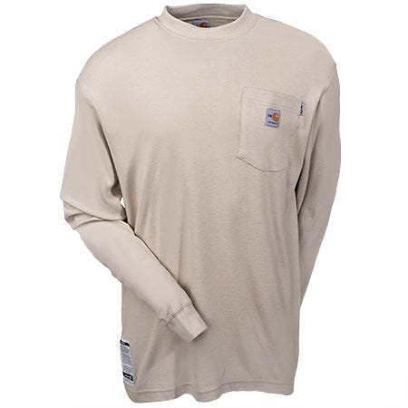 Carhartt Shirts: Men's Flame-Resistant Long Sleeve Work Shirt FRK294 SND Sale $69.00 Item#FRK294SND :