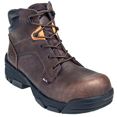 Wolverine Boots: Men's Brown Merlin 10113 Composite Toe Peak AG Waterproof Boots