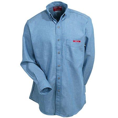 Workrite Shirts: 267UT55 Men's Ultra Soft Blue Flame-Resistant Shirt Sale $74.00 Item#267UT55 :