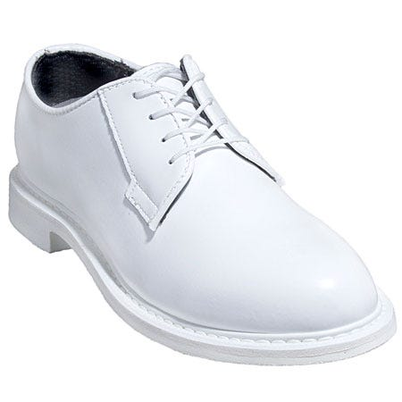 Bates Women's White Leather USA-Made Oxford Shoes 7131