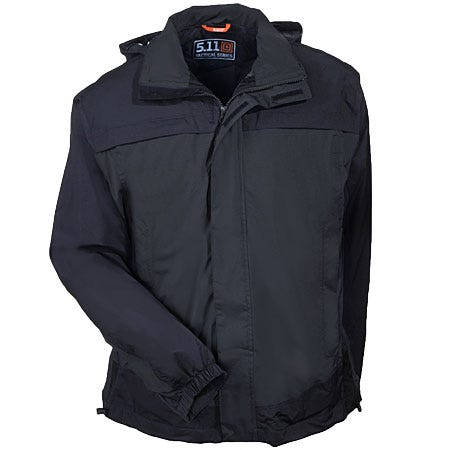 5.11 Jackets: Men's Black Waterproof Nylon Tactical Jacket 48098 019 Sale $130.00 Item#48098-019 :