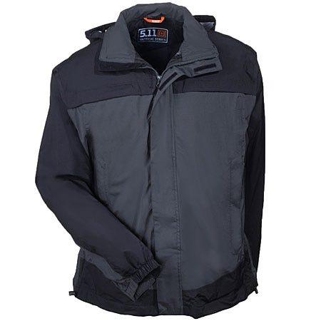 5.11 Tactical Jackets: Men's Grey Nylon Waterproof Rain Shell Jacket 48098 018 Sale $130.00 Item#48098-018 :