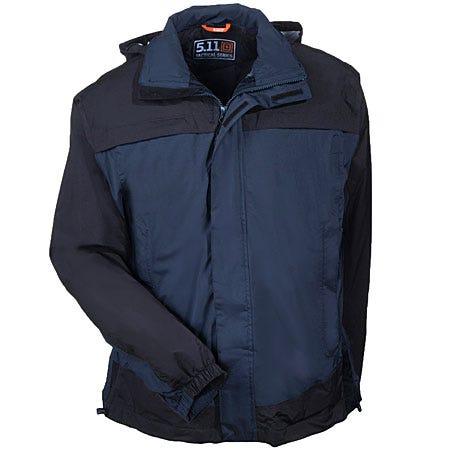 5.11 Jackets: Men's Navy Waterproof Nylon Hooded Tactical Jacket 48098 724 thumbnail