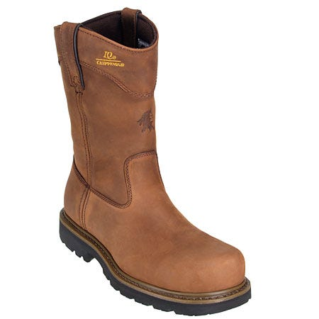 Chippewa Boots Men's Steel Toe Pull-On Bark Wellington Work Boots 55035