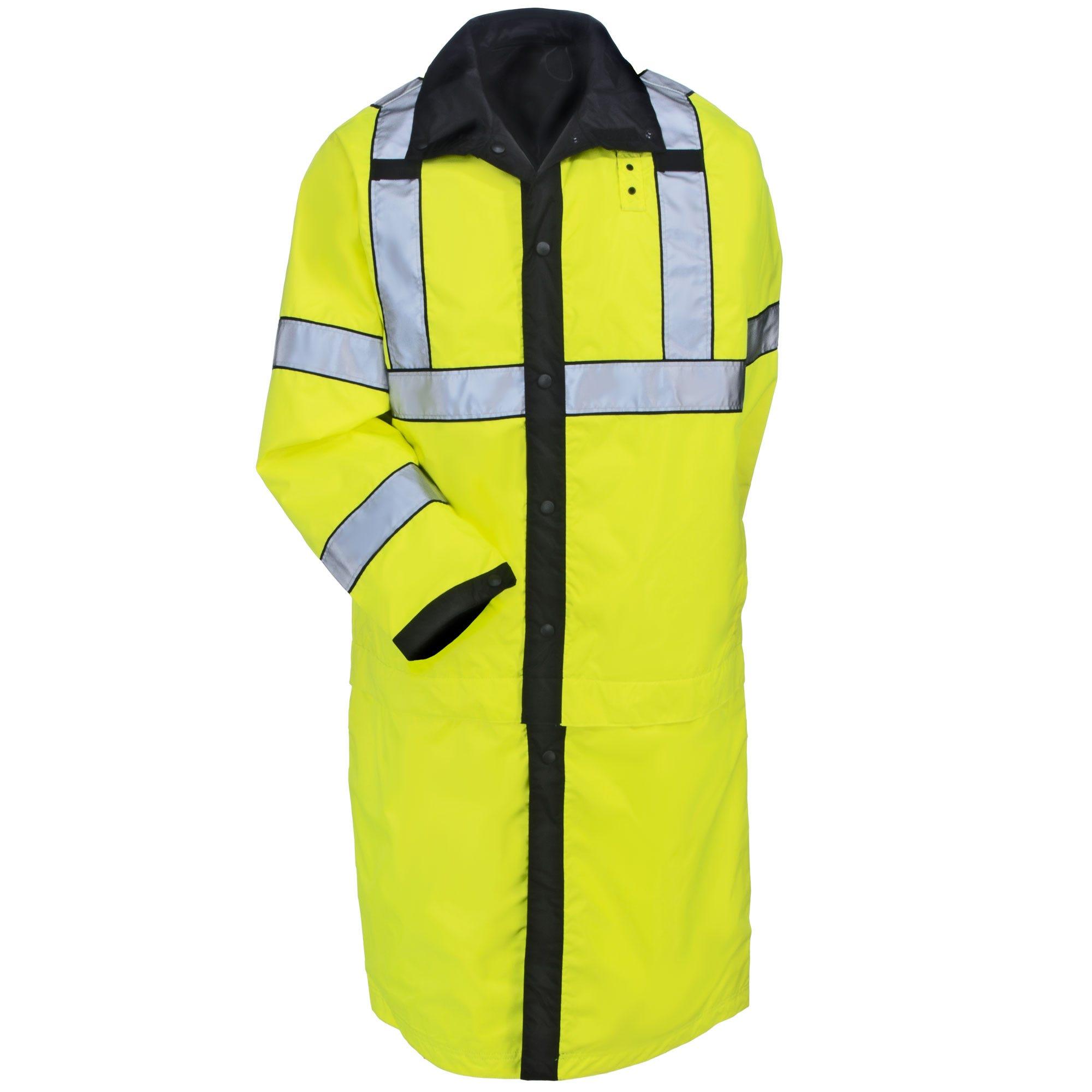 5.11 Tactical Coats: Men's 48125 019 Black High Vis Waterproof Reversible Rain Coat thumbnail