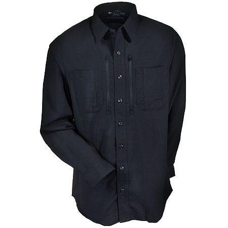 5.11 Tactical Shirts: Men's Black Hot Weather Traverse Long Sleeve Shirt 72390 019 Sale $75.00 Item#72390-019 :