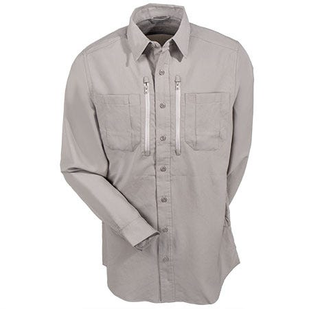 5.11 Tactical Shirts: Men's Long Sleeve Traverse Khaki Work Shirt 72390 055 Sale $75.00 Item#72390-055 :