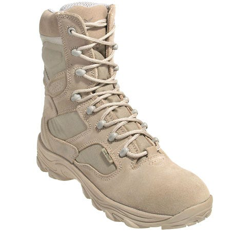 Wellco Boots: Men's Tan X-4orce 8 Inch Combat Boots T180-4