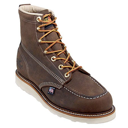 Thorogood Boots: Men's Brown Moc Toe 814-4203 USA Made American Heritage Work Boots