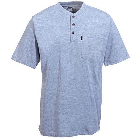 Key Clothing Men's Heavyweight Grey Henley Cotton Shirt 825 05