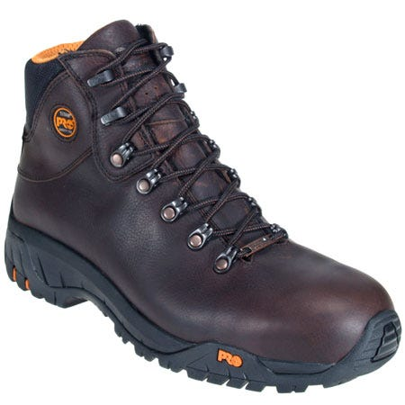 Timberland PRO Boots: Mens 85520 TiTAN Brown Trekker EH Alloy Toe Boots