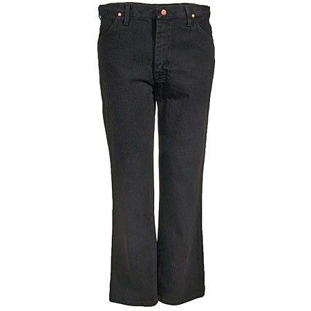 Wrangler Jeans: Mens Black Cotton Denim Cowboy Work Jeans 0936 KCL Sale $36.00 Item#0936KCL :