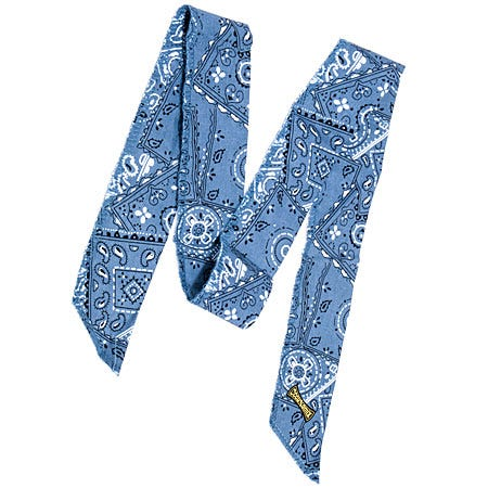 Occunomix Bandanas Safety Equipment & Protective Gear 940 CBL Cowboy Blue Miracool Neck Cooling Bandana