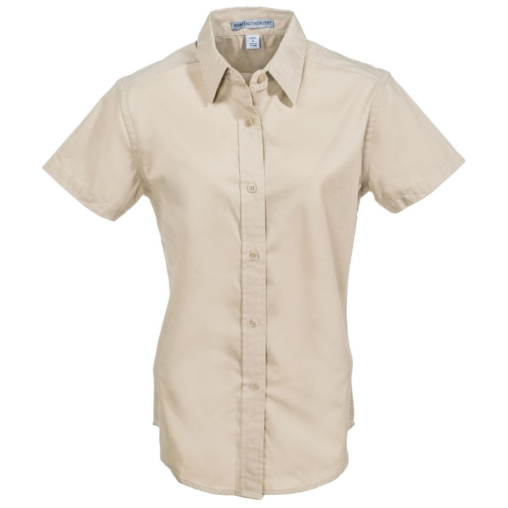 Port Authority Women's Stone Short Sleeve Shirt L508 STN