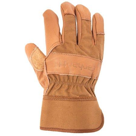 Carhartt Gloves: Men's Leather/Cotton Duck Work Gloves A518 BRN Sale $18.00 Item#A518BRN :