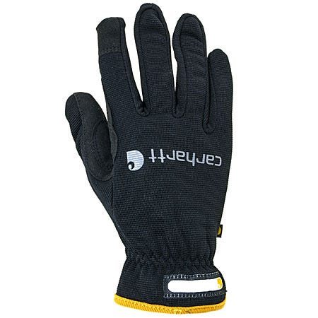 Carhartt Gloves: Men's s A547 Black Quick Flex Spandex Work Glove Sale $18.00 Item#A547BLK :