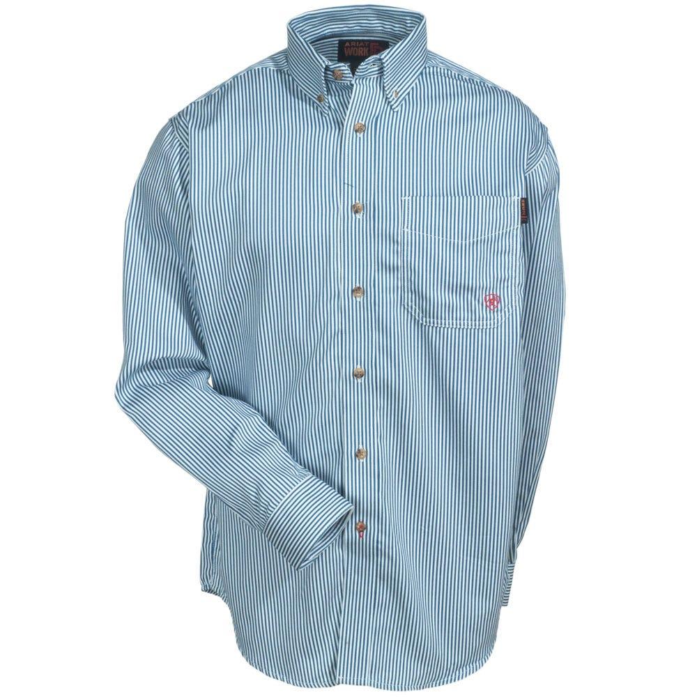Ariat Shirts Mens 10012250 Blue Flameresistant Stripe Work ...