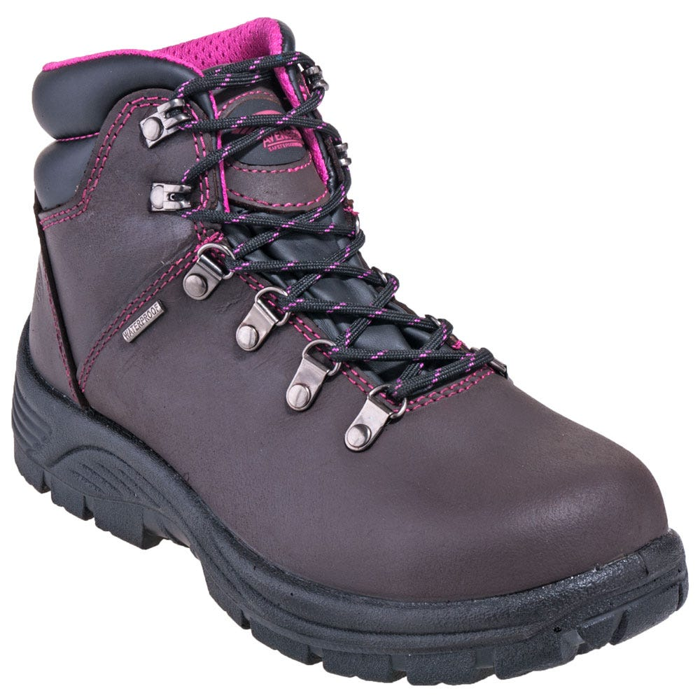 Avenger Boots Women S A7125 Brown Waterproof Eh Steel Toe