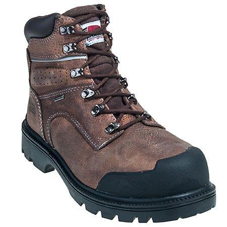 Avenger Men's Brown A7258 Steel Toe Waterproof Puncture Resistant Boots