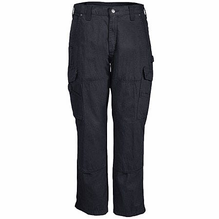 Carhartt Pants: Men's B342 BLK Black Ripstop Cotton Cargo Work Pants