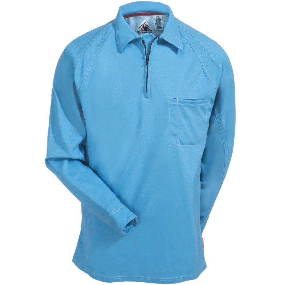 Sleeve | Shirt | Polo | Blue | Long | Men