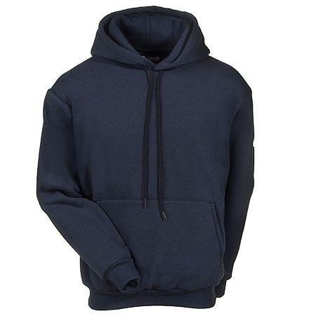 Bulwark Sweatshirts: Men's Blue SMH2 NV Flame-Resistant Nomex Sweatshirt
