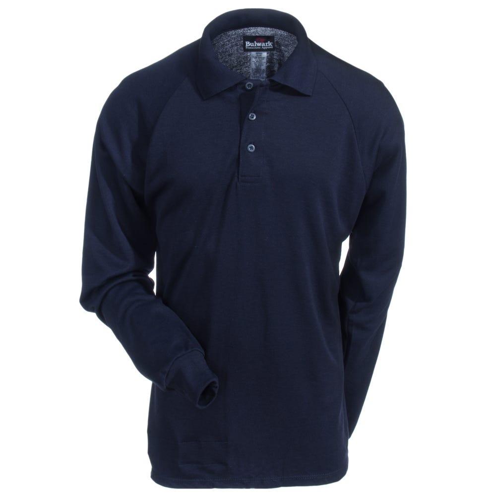 Bulwark Shirts Men 39 S Smp2 Nv Navy Blue Flame Resistant