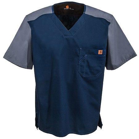 Carhartt Men's Cotton Blend Medical Uniform Scrub Top C14108 NVY