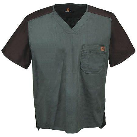 Carhartt Men's Color Block Cotton Blend Scrub Top C14108 OLI