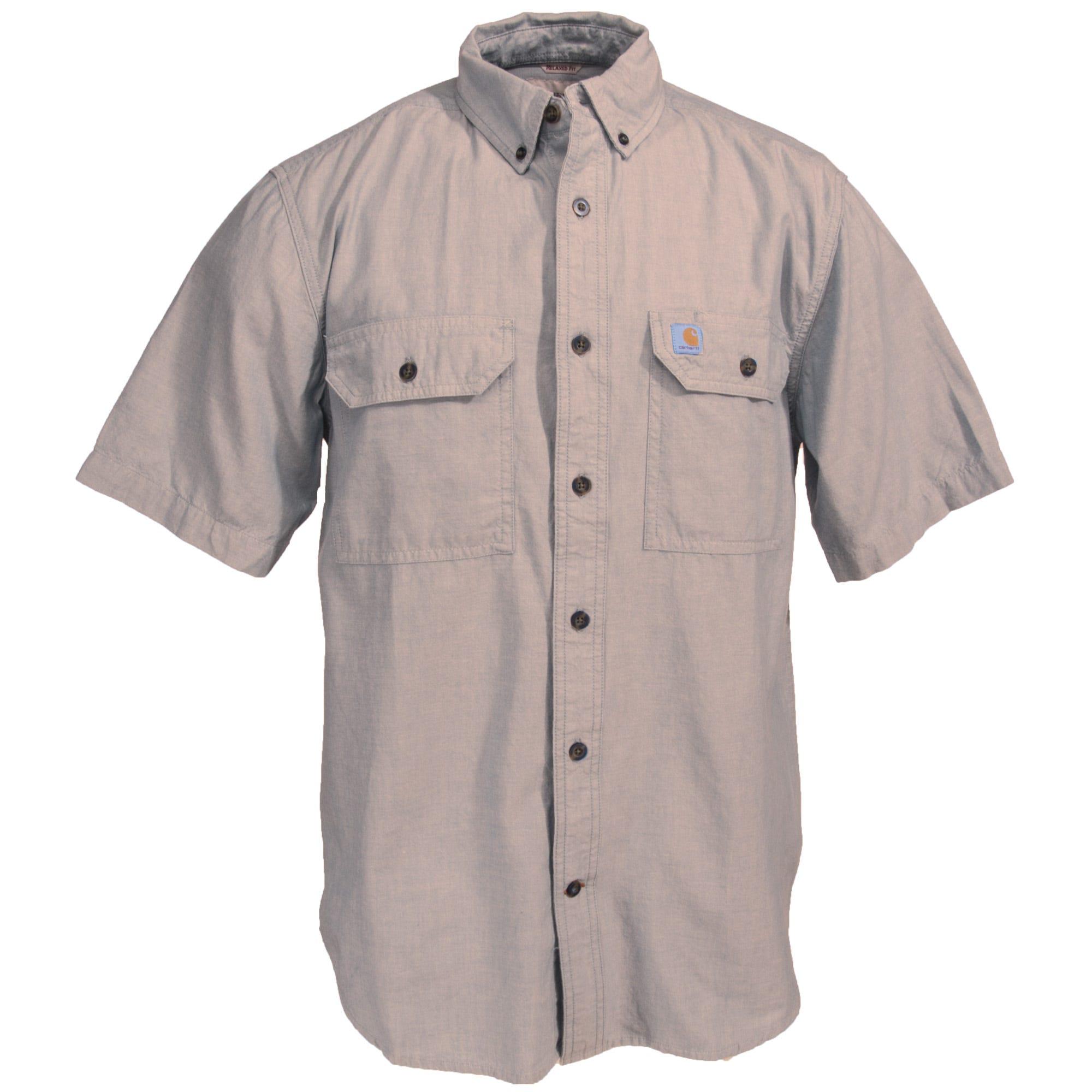 Button | Sleeve | Short | Shirt | Dark | Tan | Men