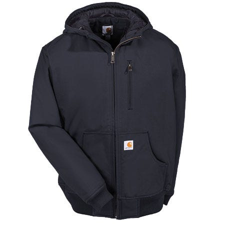 Carhartt Jackets: Men's Black 100001 001 Quick Duck Insulated Woodward Hooded Jacket Sale $110.00 Item#100001-001 :
