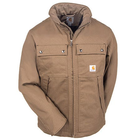 Carhartt Jackets: Men's Canyon Brown 100107 908 Quick Duck Woodward Work Jacket Sale $110.00 Item#100107-908 :