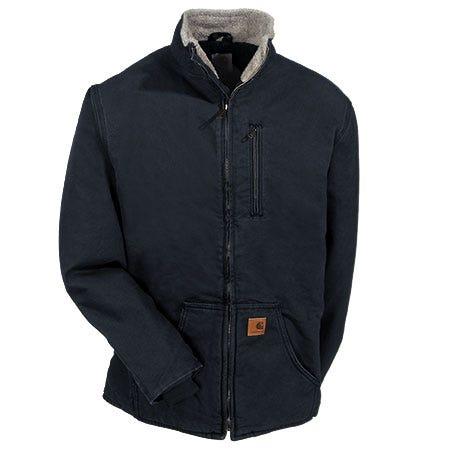 Carhartt Jackets: Men's Black 100112 001 Sherpa Lined Muskegon Jacket Sale $100.00 Item#100112-001 :