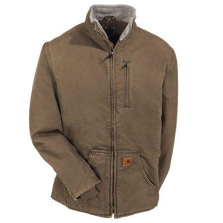 Carhartt Jackets: Men's 100112 903 Sherpa Lined Frontier Brown Muskegon Jacket Sale $100.00 Item#100112-903 :