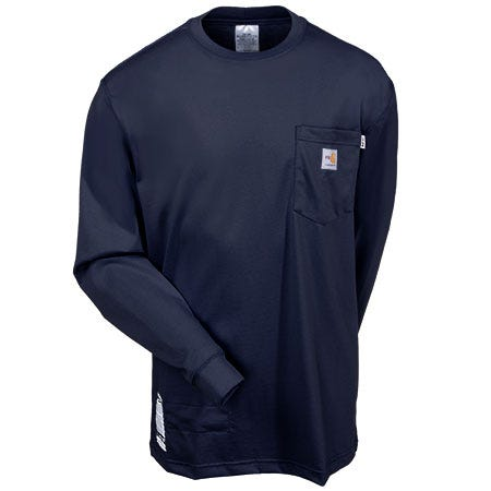 Carhartt Shirts: Men's Flame Resistant Force Navy 100235 410 Work Shirt Sale $68.00 Item#100235-410 :