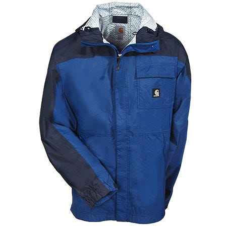 Carhartt Jackets: Men's Blue 100265 435 Lightweight Waterproof Ripstop Huron Jacket Sale $100.00 Item#100265-435 :