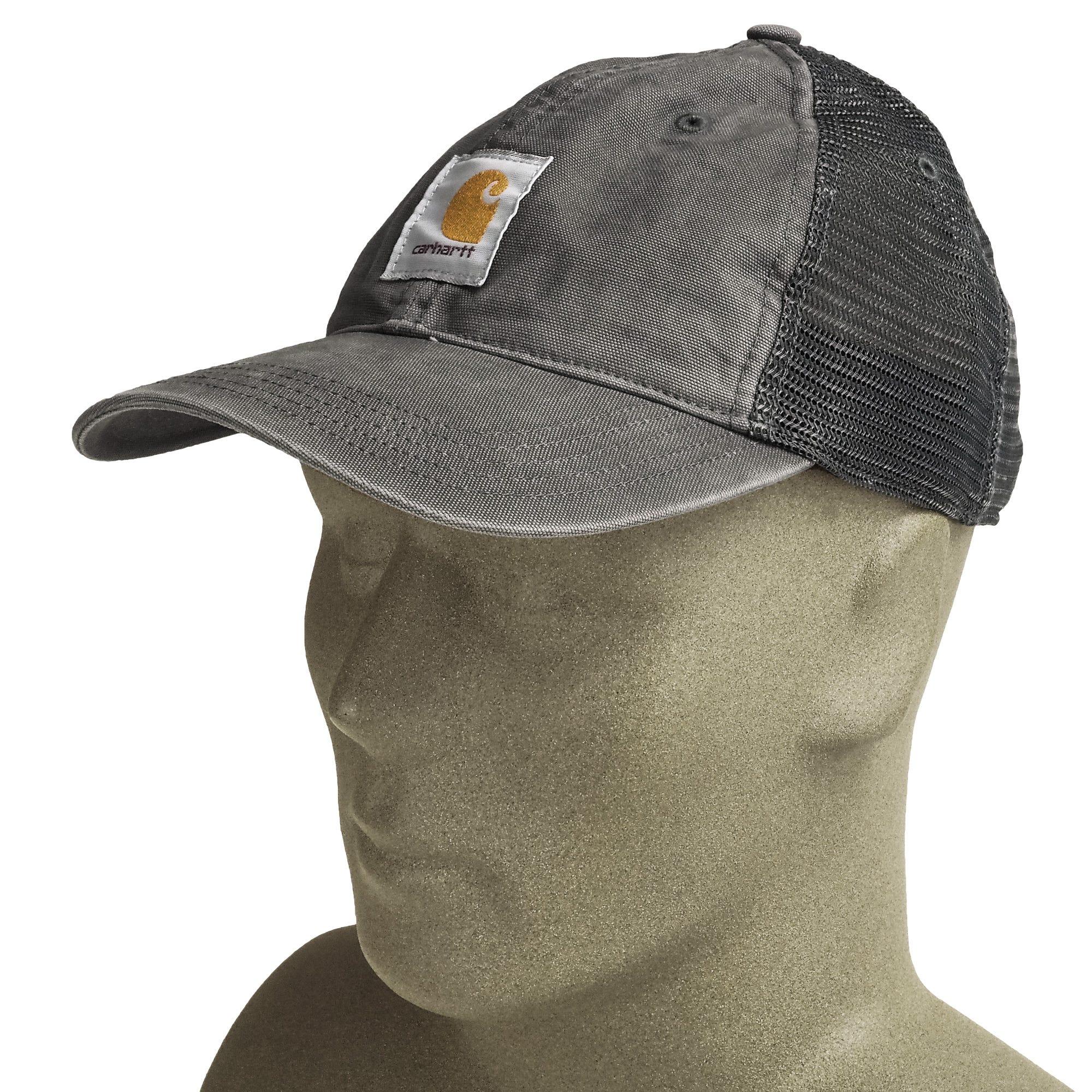 b195f913041dc Carhartt 100286 039 Gravel Grey Buffalo Mesh Back Baseball Cap