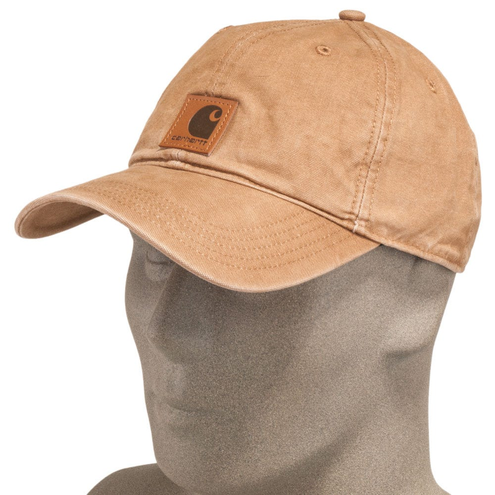 Carhartt Caps: Men's 100289 211 Brown Cotton Canvas Baseball Cap - CarolinaWaterproofToeBoots