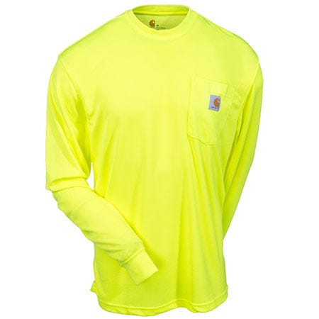 carhartt shirts men 39 s force 100494 323 lime hi vis