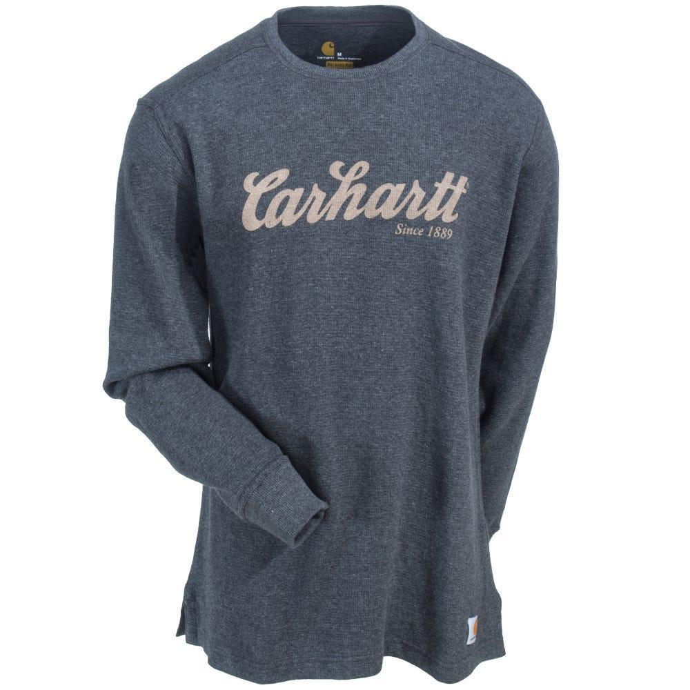 Carhartt Shirts 100569 026 Thermal Knit Men S Carbon
