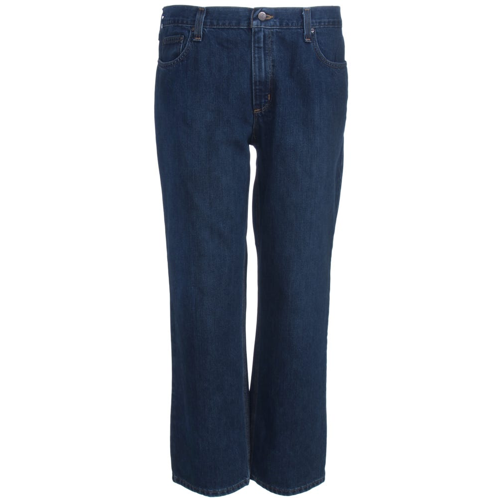Carhartt Jeans: Men's 101483 968 Dark Blue Bedrock Relaxed Fit Holter Jeans