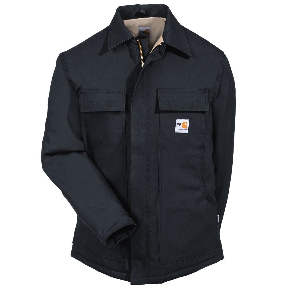 1c233dd2f489 Carhartt Clothing Men s 101618 001 Flame Resistant Cotton Duck Lined Coat